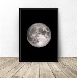 """Plakat z księżycem """"Moon"""""""
