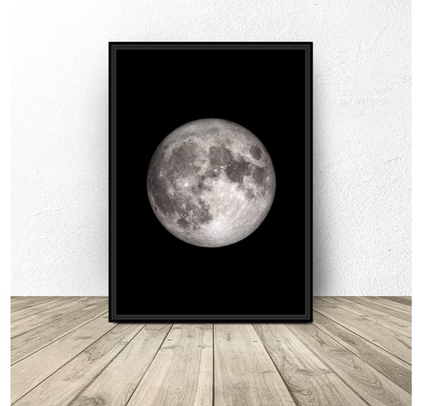 Poster with the moon Moon