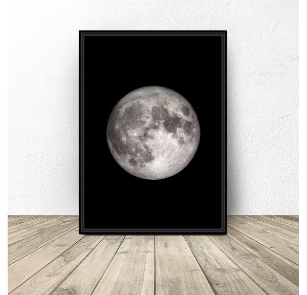 Plakat z księżycem Moon