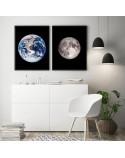 Zestaw dwóch plakatów Ziemia i księżyc 2