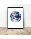 Poster with planet Earth