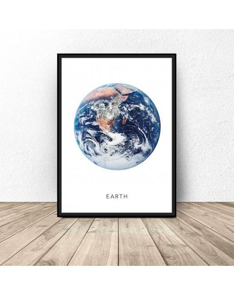 Plakat z planetą Ziemia