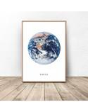 Zestaw dwóch białych plakatów Ziemia i księżyc 4