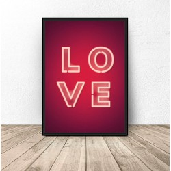 "Plakat ""Neonowe LOVE"""