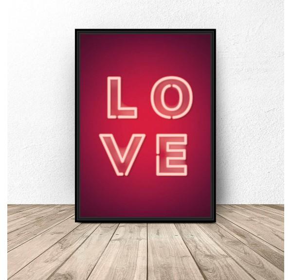 Plakat Neonowe LOVE
