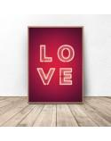 Zestaw dwóch plakatów Zakochany flaming 3