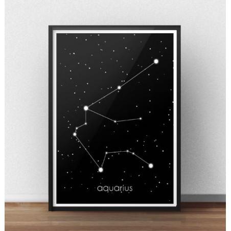 Plakat ze znakiem zodiaku Wodnik