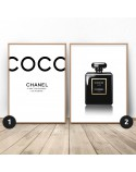 Set of two posters Black Chanel 2