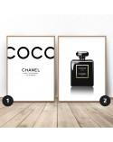 Zestaw dwóch plakatów Czarny Chanel 2