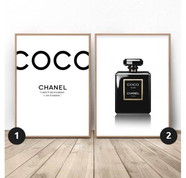 Zestaw dwóch plakatów Czarny Chanel