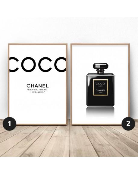 """Zestaw dwóch plakatów """"Czarny Chanel"""""""