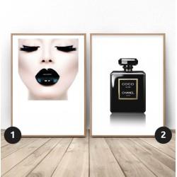 """Zestaw dwóch plakatów """"Black glamour"""""""