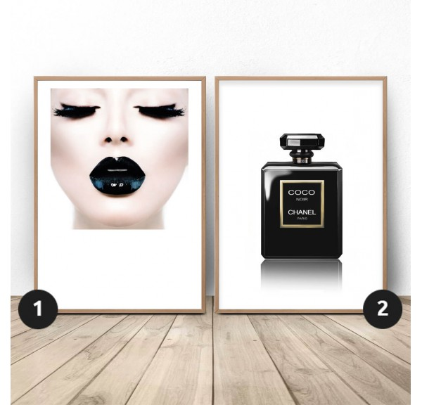 Set of two Black glamour posters