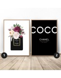 Set of two posters Flowery Chanel