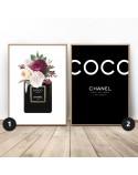 Zestaw dwóch plakatów Kwiecisty Chanel
