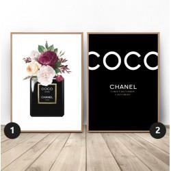 """Zestaw dwóch plakatów """"Kwiecisty Chanel"""""""