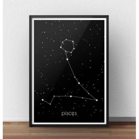 Plakat ze znakiem zodiaku Ryby