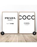 Zestaw dwóch plakatów Prada i COCO
