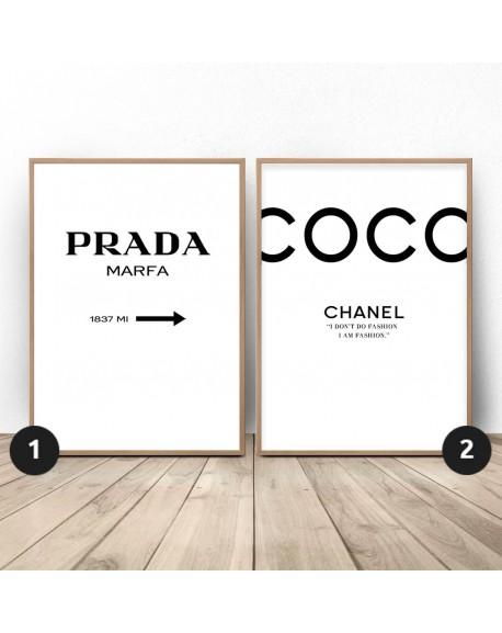 """Zestaw dwóch plakatów """"Prada i COCO"""""""