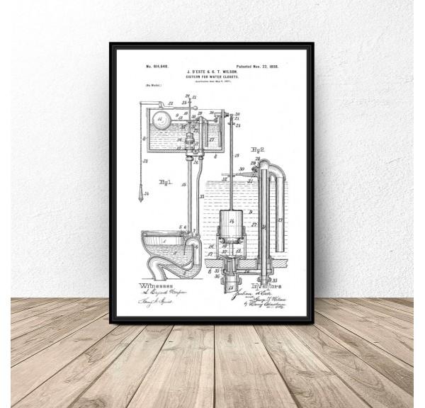 Plakat do łazienki i wc Konstrukcja toalety