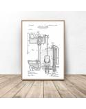Plakat do łazienki i wc Konstrukcja toalety 2