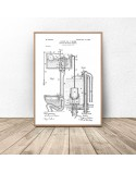 Poster for bathroom and toilet Toilet design 2
