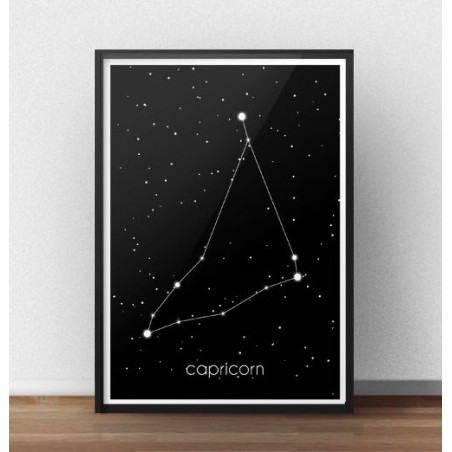 Plakat ze znakiem zodiaku Koziorożec