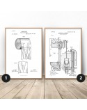 Set of two posters for toilet Toilet and paper