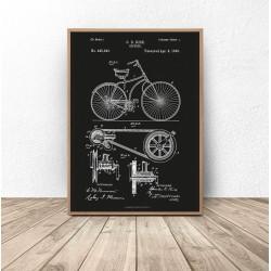 """Czarny plakat """"Konstrukcja roweru"""""""