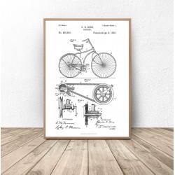 "Plakat ""Rycina roweru"""