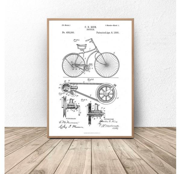 Poster Bicycle Engraving