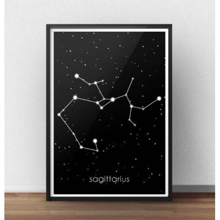 Plakat ze znakiem zodiaku Strzelec