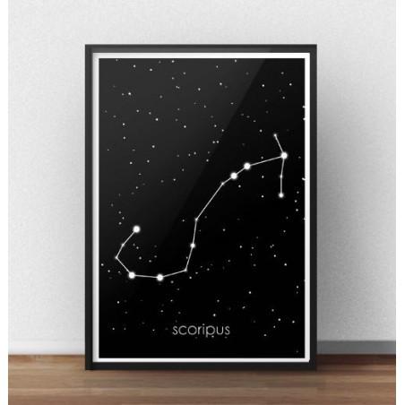 Plakat ze znakiem zodiaku Skorpion