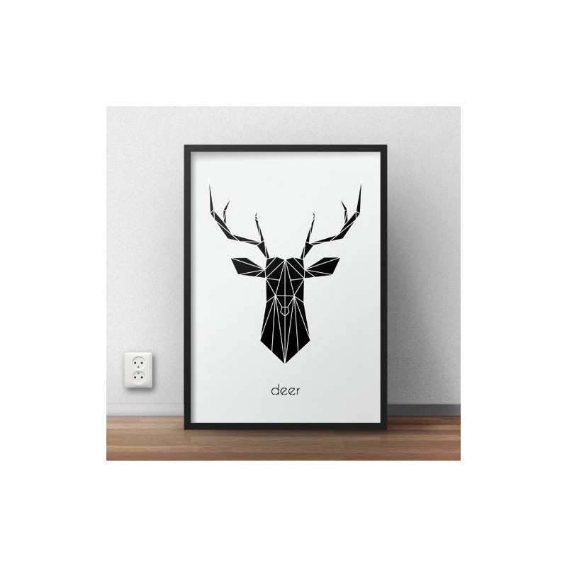 Black Deer Poster - Sale
