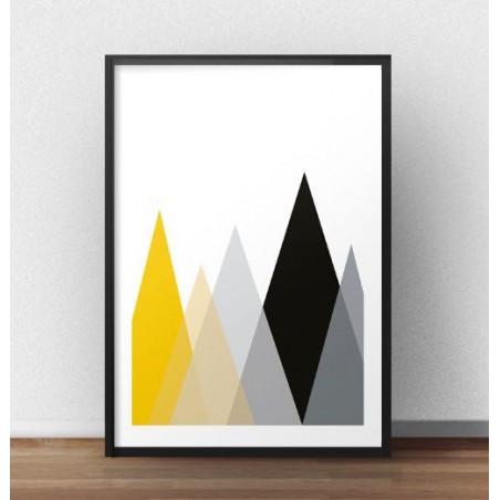 """Skandynawski plakat geometryczny """"Góry"""" rozm. 40x50"""