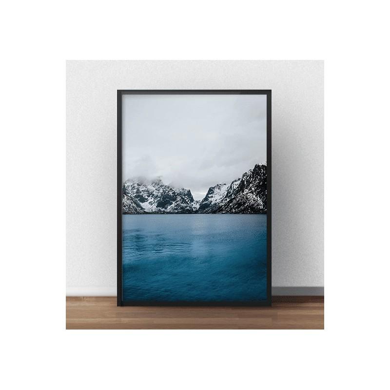 Plakat fotograficzny Górskie jezioro - rozm. 40x50