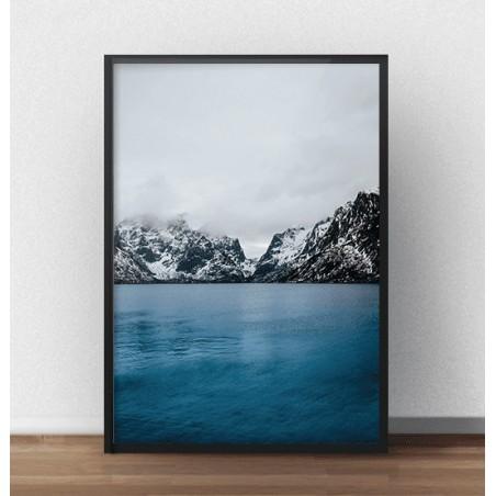 """Plakat fotograficzny """"Górskie jezioro"""" - rozm. 40x50"""
