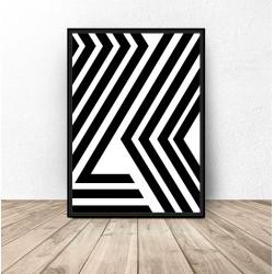 "Plakat ""Abstrakcyjne pasy"""