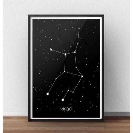 Plakat ze znakiem zodiaku Panna