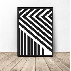 """Plakat abstrakcyjny """"Pasy"""""""