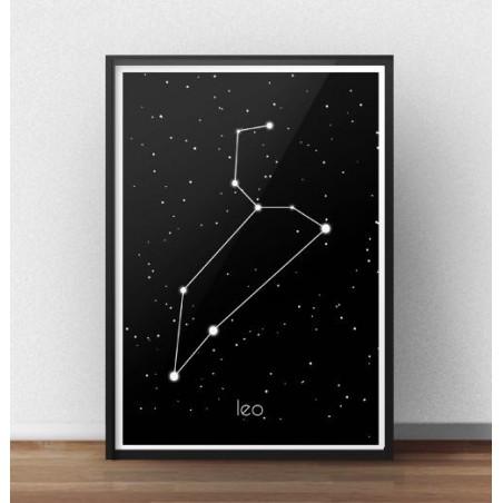 Plakat ze znakiem zodiaku Lew