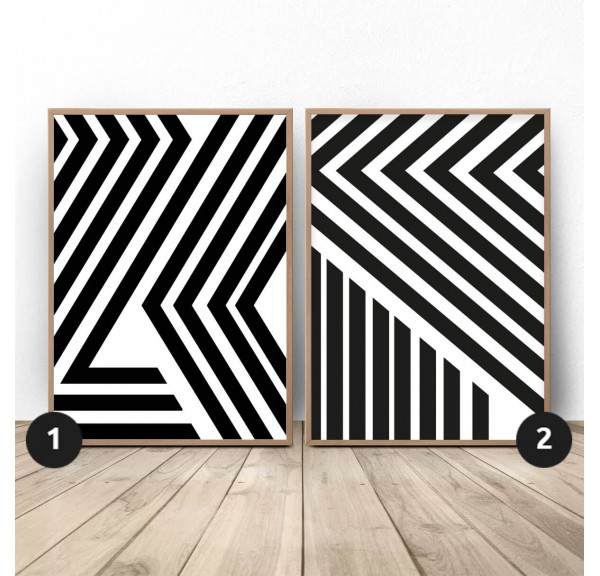 Set of two abstract posters Belts