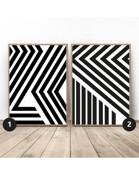"""Zestaw dwóch plakatów abstrakcyjnych """"Pasy"""""""