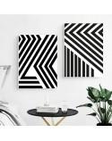 Zestaw dwóch plakatów abstrakcyjnych Pasy 4