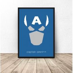 Plakat z postacią Kapitana Ameryki