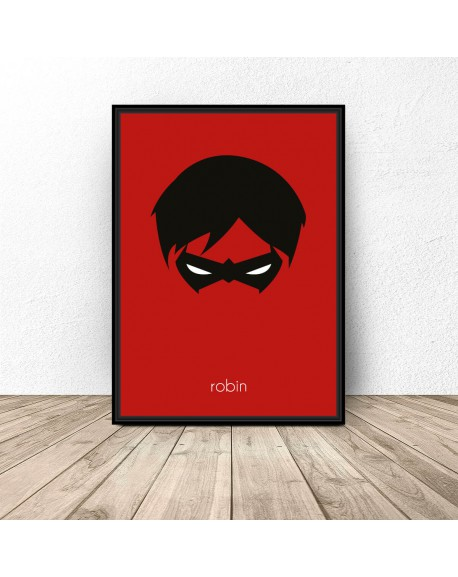 Plakat z postacią Robina