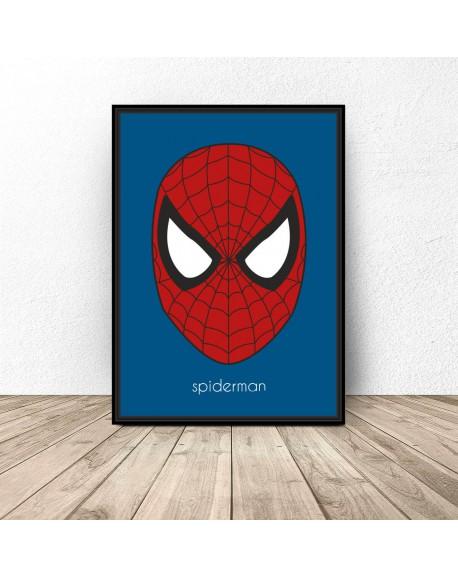 Plakat z postacią Spidermana