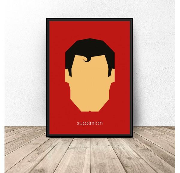 Plakat z postacią Supermana
