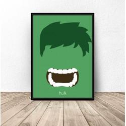 Plakat z postacią Hulk