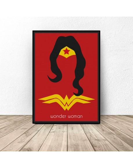 Plakat z postacią Wonder Woman